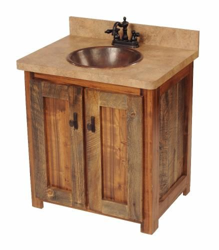 Pic On  Bathroom Vanities Under love this for a rustic bath