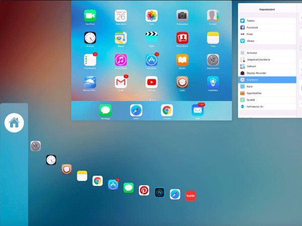 Kaze, attiva con questo tweak un gesture in stile Auxo per controllare il multitasking di iOS | appleiDea