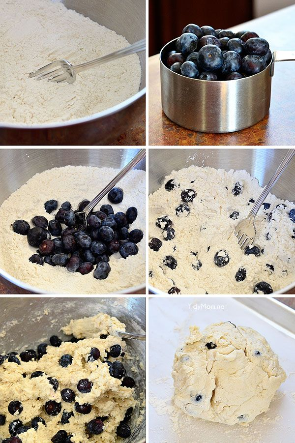 How to make blueberry scones.  Recipe at TidyMom.net