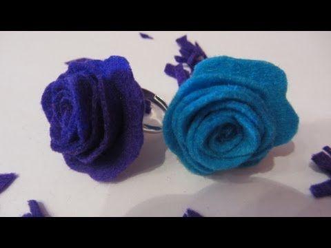 Como hacer paso a paso y muy fácil anillos con rosas de fieltro.  Facebook: https://www.facebook.com/gustamonton  Twiteer: https://twitter.com/#!/gustamonton  Página: http://www.gustamonton.com