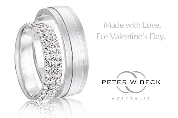 Peter W Beck matched wedding rings. #peterwbeck #weddingrings #mr&mrs #wemakelove #diamondrings