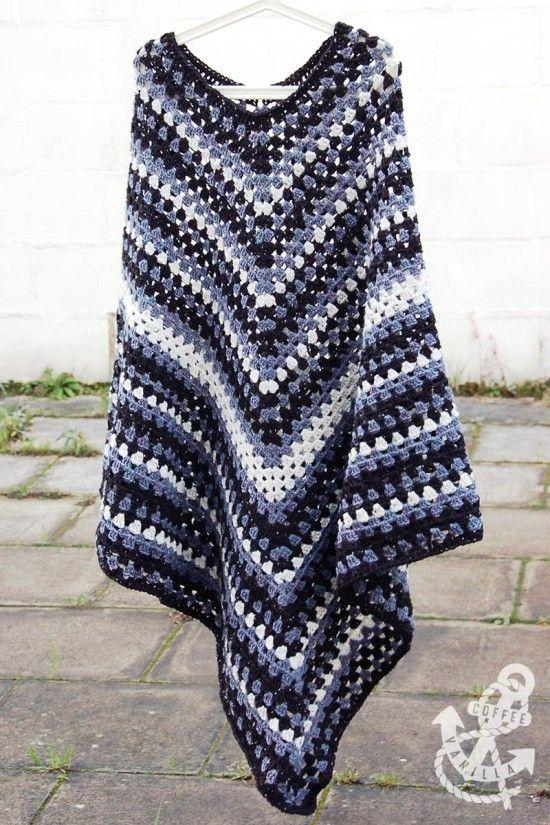 Free Crochet Pattern For Poncho Sweater : 25+ best Crochet poncho ideas on Pinterest