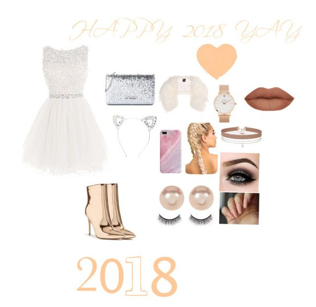 """HAPPY 2018🎆🎉❤️"" by inesriahi ❤ liked on Polyvore featuring beauty, Forever 21, Love Moschino, Charlotte Russe, Mr & Mrs Italy, Recover, Nordstrom Rack, CLUSE, Miss Selfridge and ASAP"