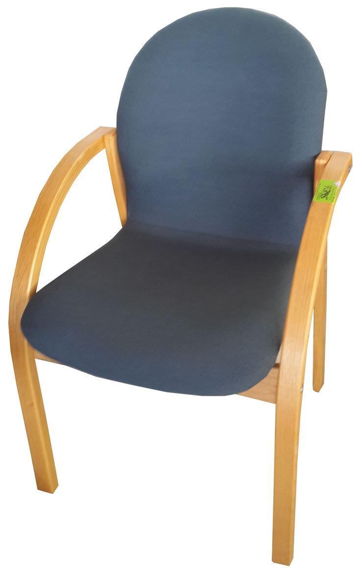 Blue oak framed visitors chair @ R395.00