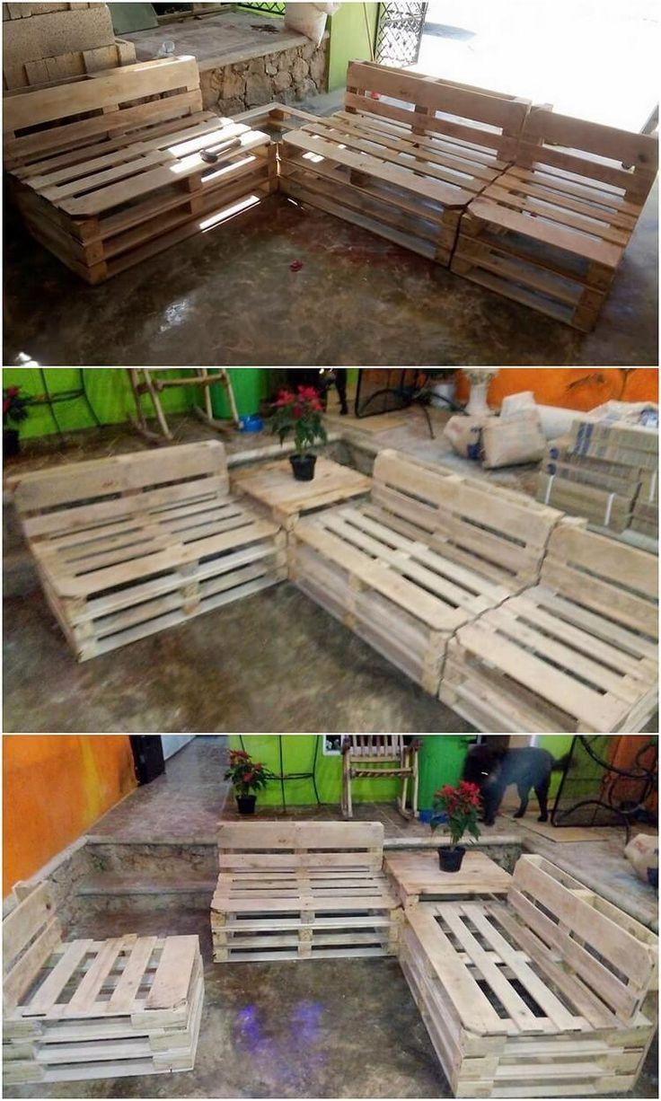 best 25 pallet outdoor furniture ideas on pinterest wood pallet yard furniture patio diy. Black Bedroom Furniture Sets. Home Design Ideas
