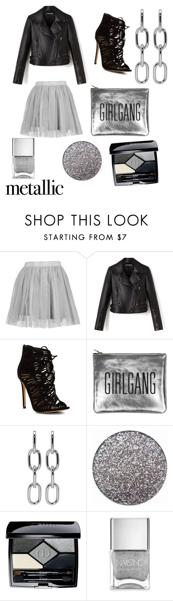 """""""shine bright"""" by majamacuzic ❤ liked on Polyvore featuring beauty, Boohoo, ALDO, Sarah Baily, Alexander Wang, Christian Dior and Nails Inc."""