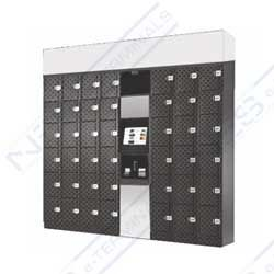 NES-WALLSERVE/48 » Multi scale stainless electronic locker wall; Modular Hardware design; Exhibitions; Showrooms; Malls; Offices; Corporates