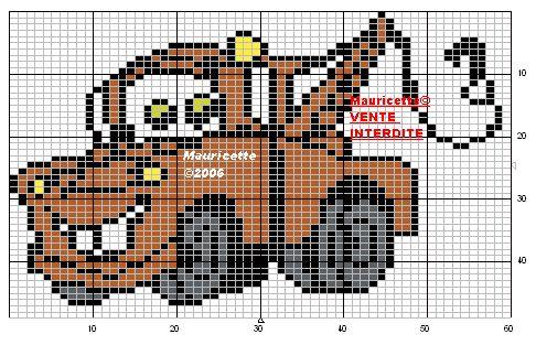Cars Mater perler bead pattern