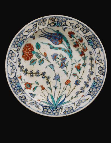 An Iznik Polychrome Dish, Turkey, Circa 1575   Lot   Sotheby's
