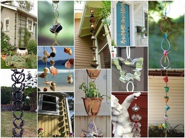 How To Make Your Own DIY Rain Chain + 34 Design Ideas To Get You Inspired