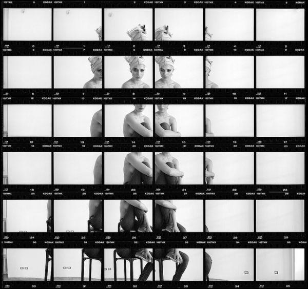 Italian photographer Mario Zanaria has some striking contact sheets