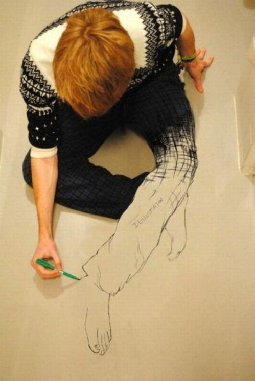 Illusion drawing....plays trick with your mind.