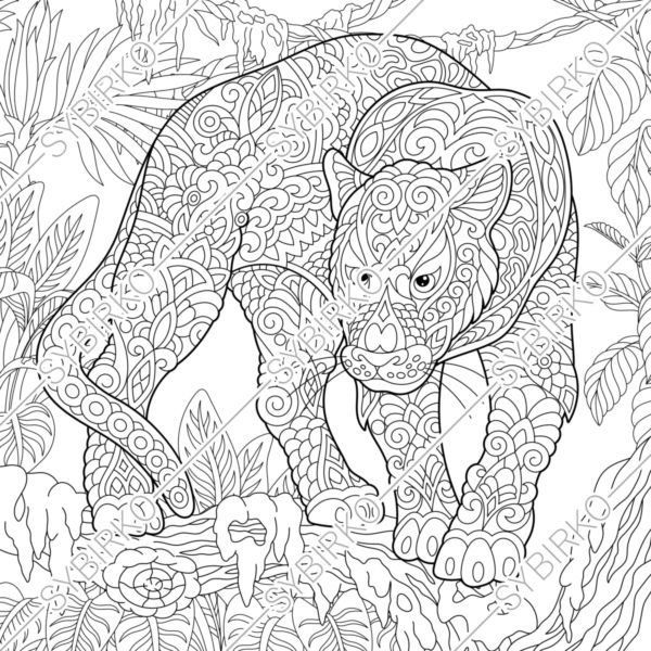 Coloring Pages Black Panther Puma Animal Coloring Book For Etsy In 2020 Animal Coloring Books Animal Coloring Pages Coloring Books