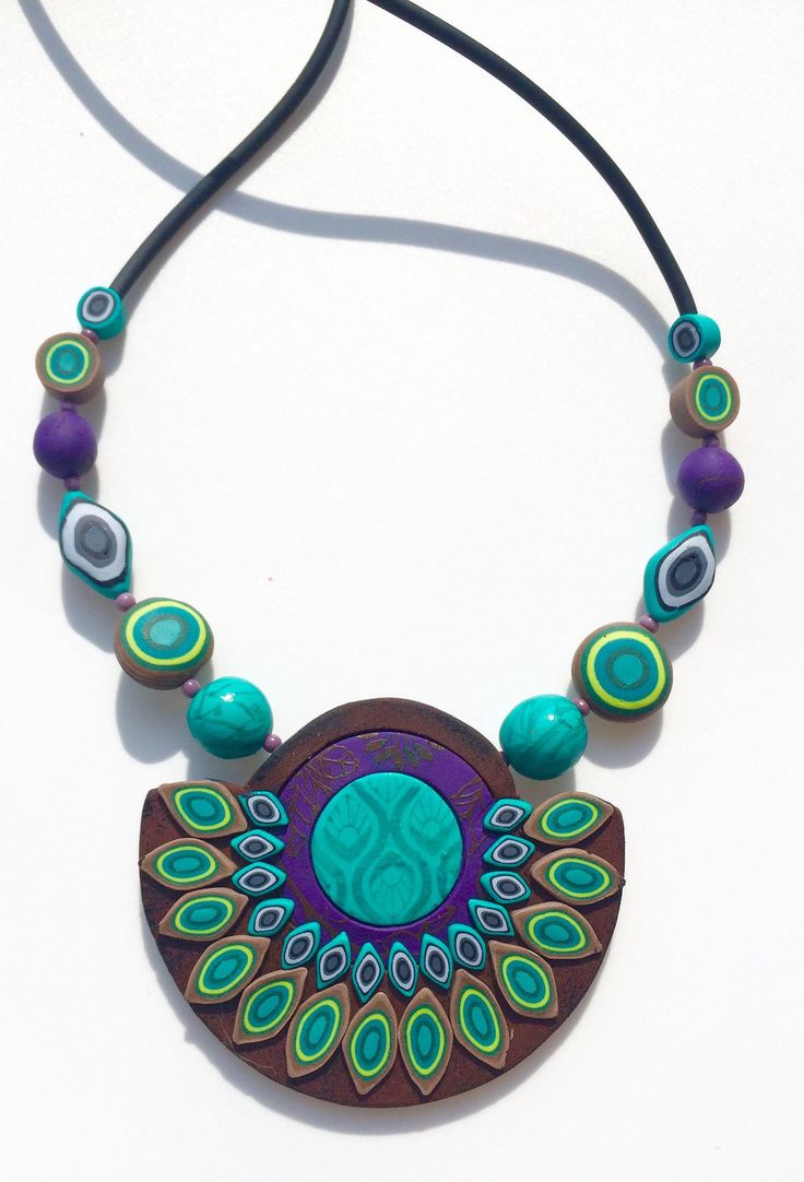https://flic.kr/p/wZKqbt | IMG_9240 | desig2 by Cecilia Botton, polymer clay necklace