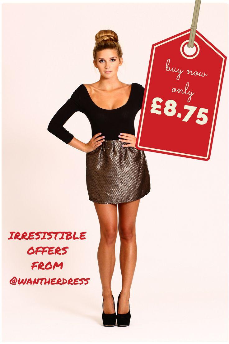 cute metallic mini skirt half price #offers #ootd #bargainhunters