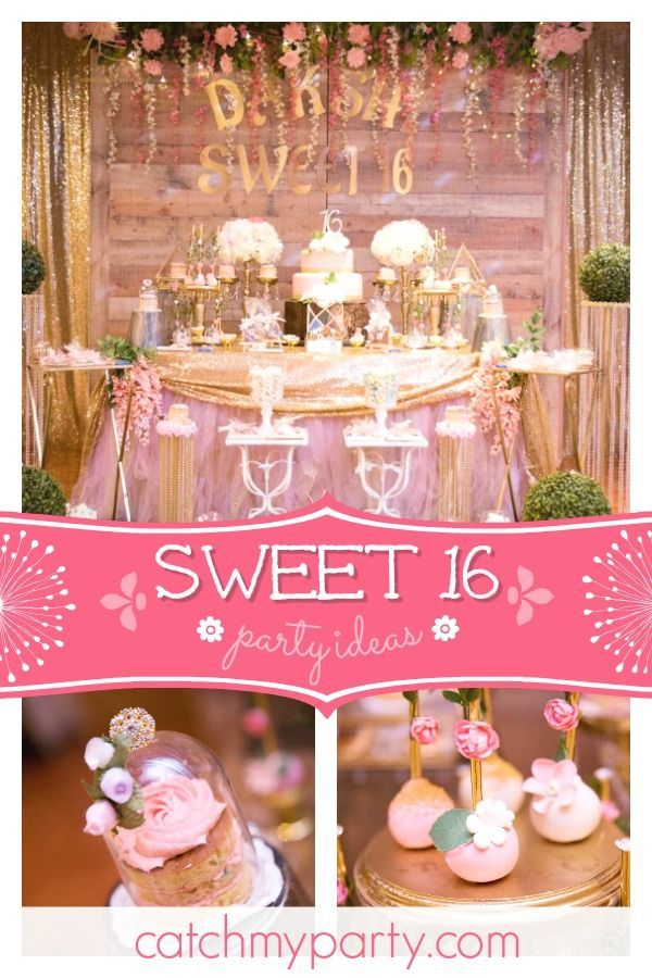 Rustic Fairy Theme Birthday Sweet 16 Birthday Party Catch My Party Sweet Sixteen Parties 16th Birthday Party Rustic Birthday