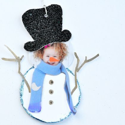 Photo Snowman Gift Tag - so so so cute