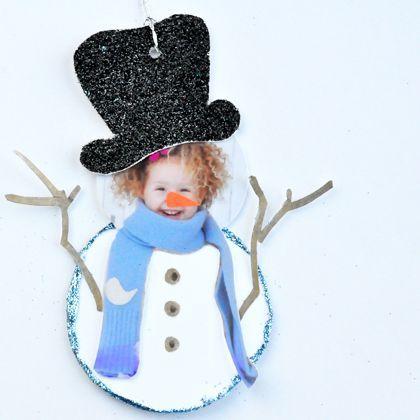 Photo Snowman Gift Tag - so so so cute, the cutest @Helen Palmer Bird