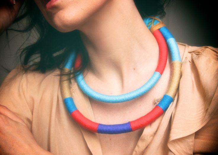 color choker tribal necklace  https://www.facebook.com/kolo.handmades