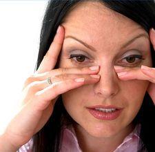 sinus pressure relief massage