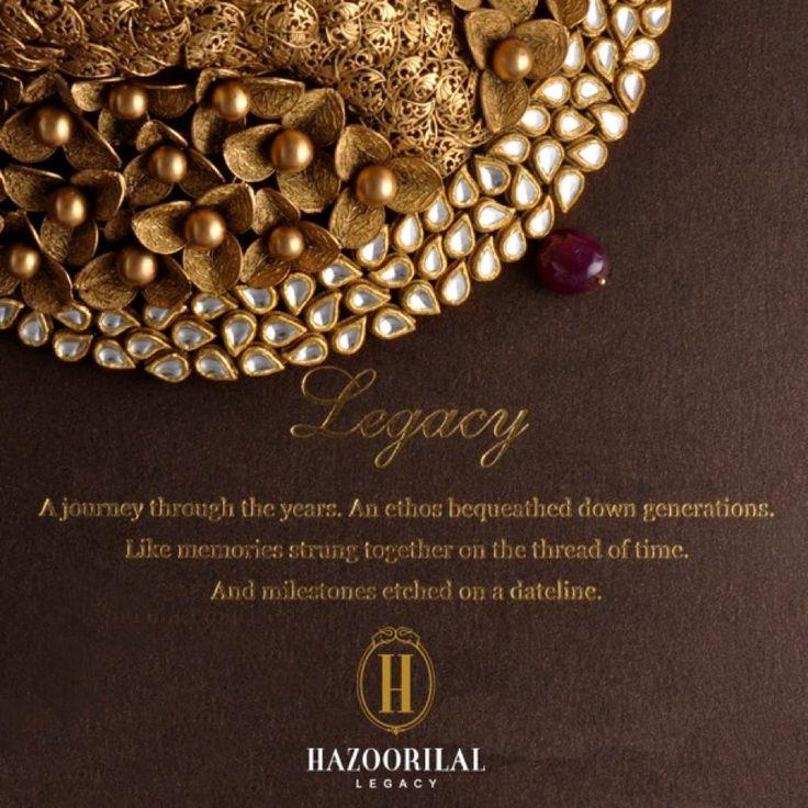 #ALegacyOfLoveByHL: Years worth of memories shining like Gold… #HazoorilalLegacy #Hazoorilal #Jewelry #Gold
