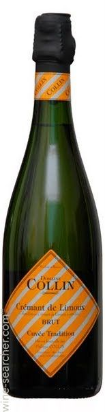 Domaine Collin Cremant de Limoux Cuvee Tradition, Languedoc-Roussillon, France - Average around $16 Chardonnay, Pinot Noir and Chenin Blanc grapes