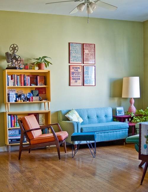 retro lounge interior