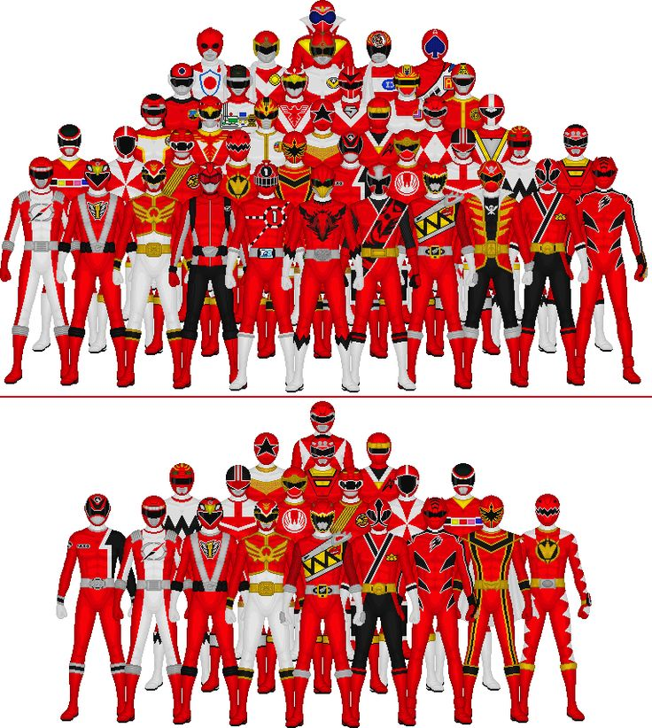 All Super Sentai and Power Rangers Reds by Taiko554 on DeviantArt