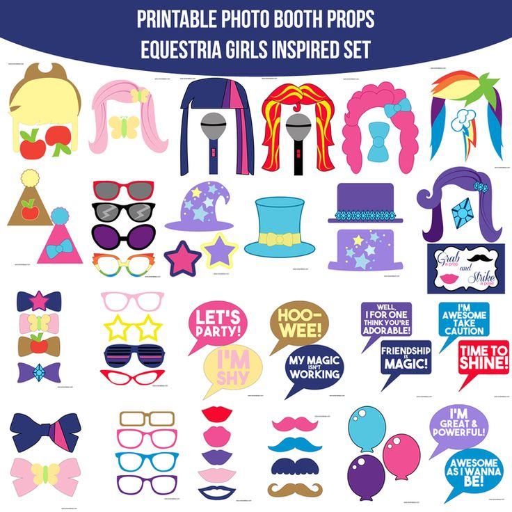 Instant Download Equestria Girls Inspired Printable Photo ...