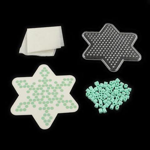 1Set Hexangular Star DIY Melty Fuse Beads Set Fuse Bead Pegboards Templates DIY