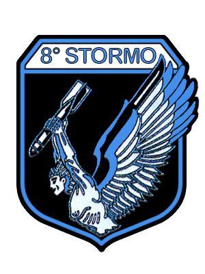 Stemma del 8° Stormo Cacciabombardieri Ricognitori - Aeronautica Militare Italiana
