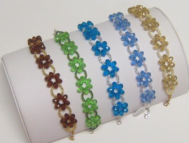 Beaded Flower Bracelet Collection Bracelets Pinterest Beads And