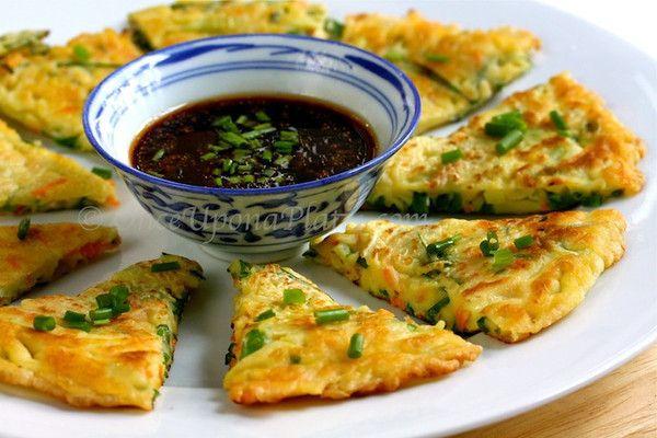 Korean vegetable pancakes. #vegetarian