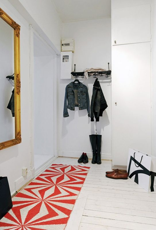 bright rug for entry
