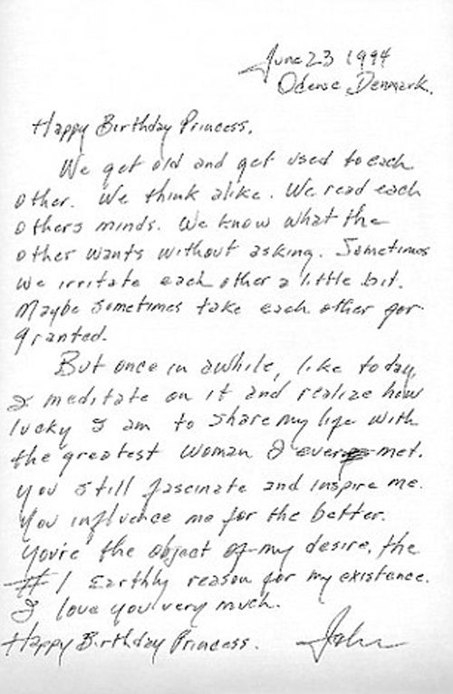"Johnny Cash love letter to June Carter Cash ""You're the object of my desire, the #1 Earthly reason for my existence,"""
