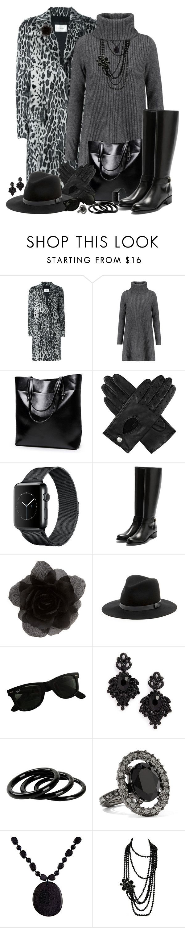 """Winter Coat"" by autumnwolf1965 ❤ liked on Polyvore featuring Yves Salomon, Madeleine Thompson, Dents, Rupert Sanderson, Accessorize, Sole Society, Ray-Ban, Tasha, Furla and Oscar de la Renta"