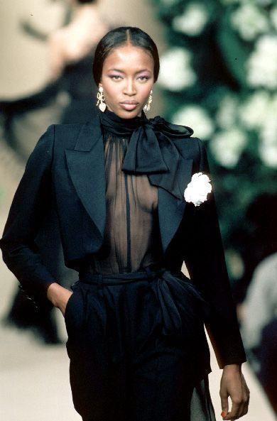 Naomi in YSL haute couture, s/s '91.