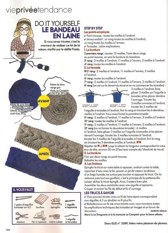 Bandeau tricote
