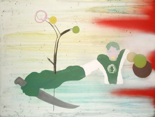 Aurelio Ayela Linterna verde. 2008. Acrílico/ lienzo. 150x200 cm.