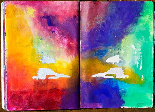 Art Journaling for Kids 101: Journals Inspiration, Art Lessons, Abstract Art, Rainbows Colors, Colors Art, Journals Pages, Art Journals For Kids, Kids Art, Kids 101
