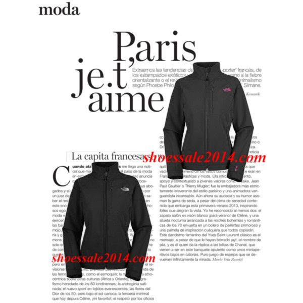 """""""Black Pink North Face Apex Bionic Jacke For Wholesale""""  by fashionace-682 on Polyvore #cheap #nike #free"""