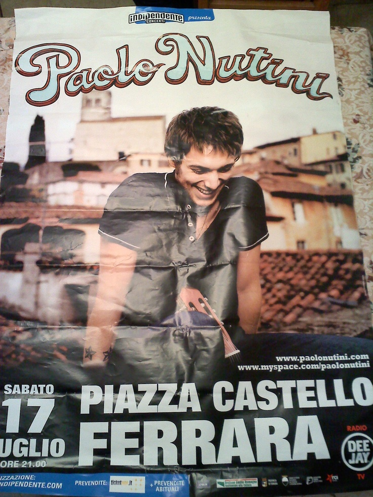 One of the best Paolo gigs ever... July 17, Ferrara, Italy.