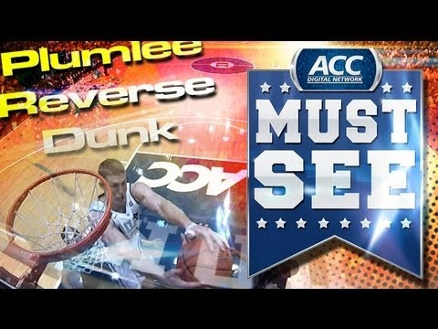 Duke's Mason Plumlee Ridiculous Reverse Follow-up Dunk vs. Maryland!! - ACC MUST SEE MOMENT -  KASLAM!!