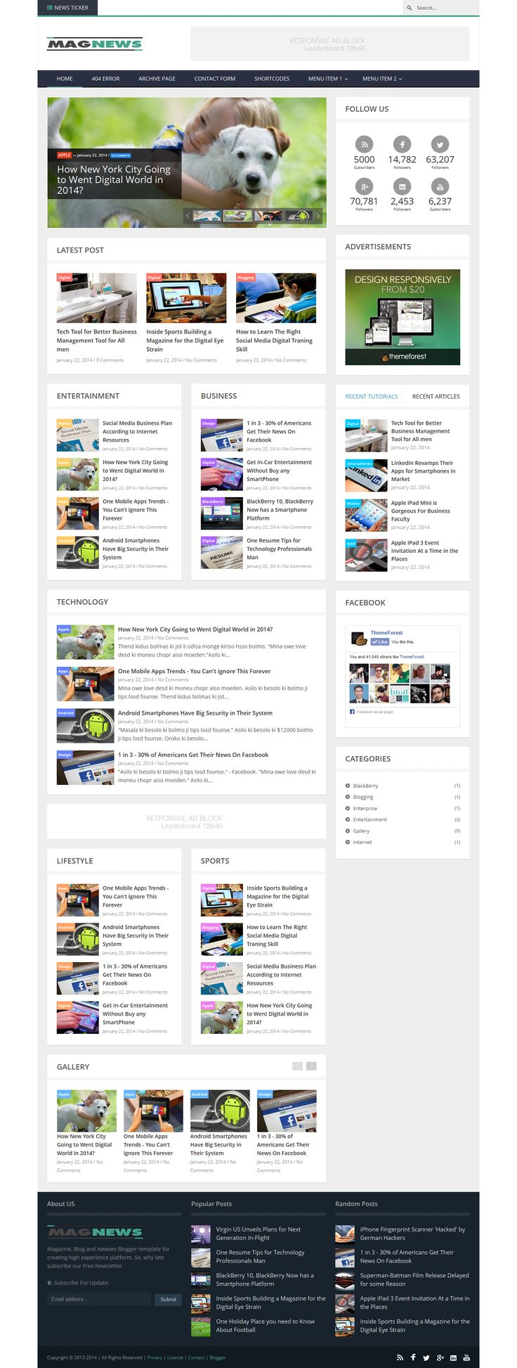 93 best Best Responsive Blogger Template Collection images on ...