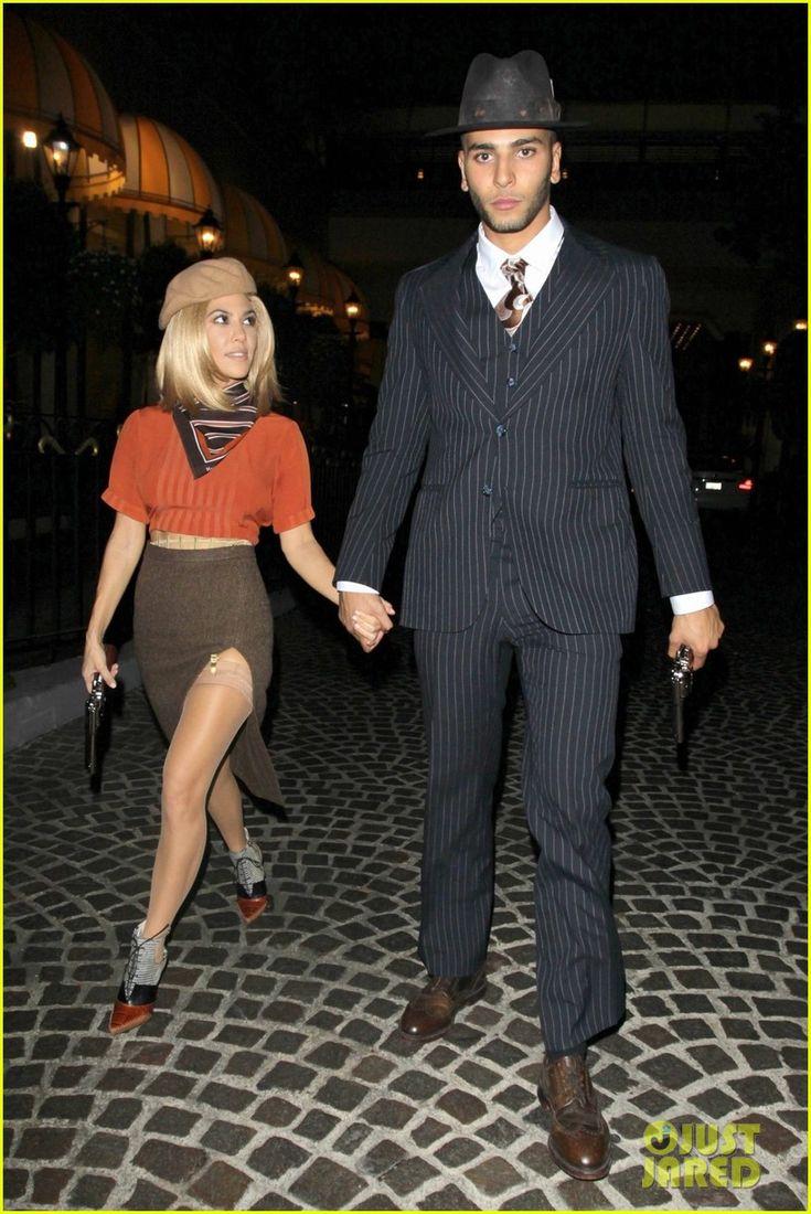 Kourtney Kardashian & Younes Bendjima Do a Couples Costume for Halloween! | kourtney kardashian boyfriend bonnie clyde halloween 02 - Photo