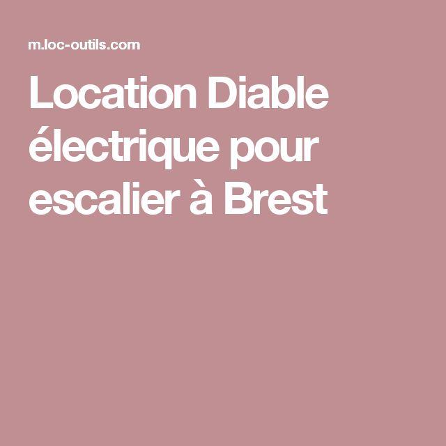 Location Diable électrique pour escalier à Brest