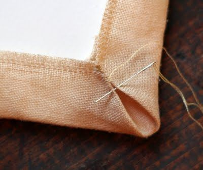 How to mount needlework onto foam board. Great tutorial- professional results!
