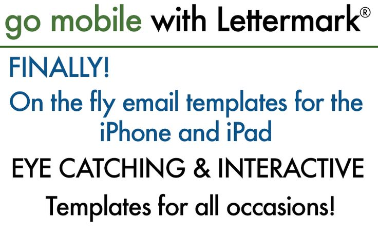 LetterMark go mobile is the simple way to add great innovative logos, signatures, and vCards to your iPhone or iPad Email and text messages. Download the app on iTunes here https://itunes.apple.com/us/app/lettermark-go-mobile/id855767352?mt=8