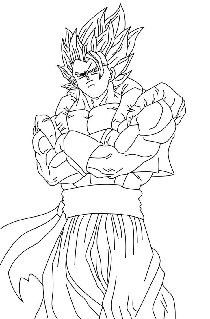 Coloring Gogeta Pages Ssj4 2020 Color Free Coloring Pages