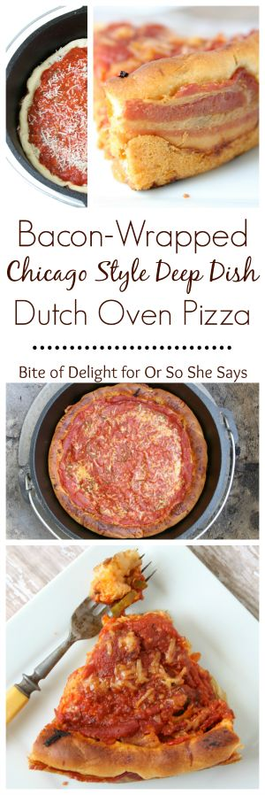 Whoa. Chicago style deep dish dutch oven pizza!  Perfect for camping or home!